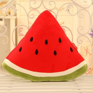 创意可爱卡通毛绒玩具西瓜抱枕大号水果公仔靠垫