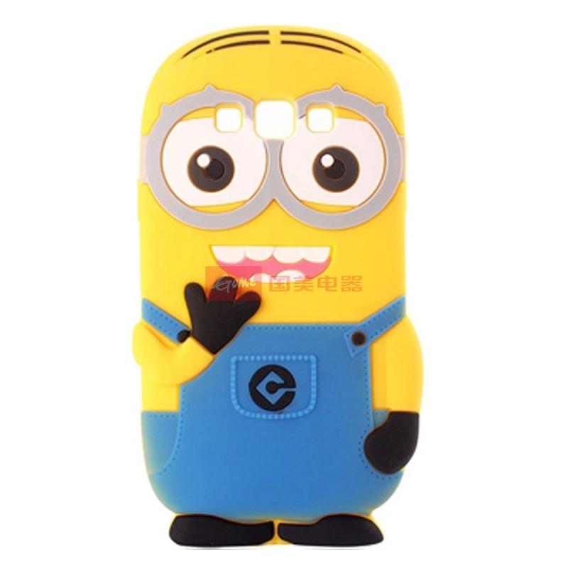 【手机保护套浅蓝色小黄人图片】奈品 手机卡通小黄人
