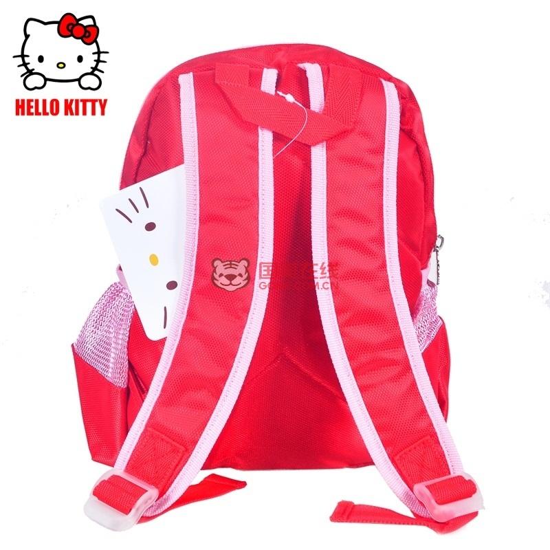 hellokitty凯蒂猫kt猫幼儿园卡通可爱双肩包学前班书包红色5066(红色)