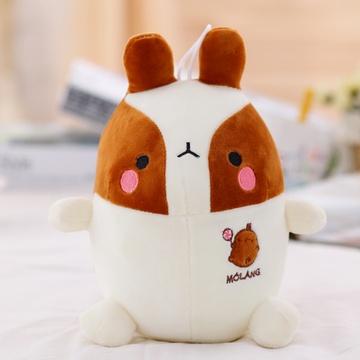 可爱 兔子 玩偶 毛绒玩具 猴 公仔 布娃娃 玩偶 生日礼物(白棕土豆兔