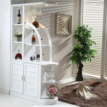 木诺实木酒柜客厅隔断间厅柜屏风柜储物柜橡木玄关柜