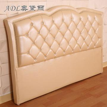 简约欧式床头床屏 定制床头靠包 软包 双人床 皮床头