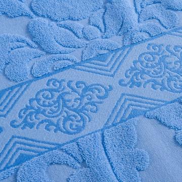 夏凉单双人毛毯儿童毛巾毯 全棉盖毯空调毯(欧典蓝色 150*200)