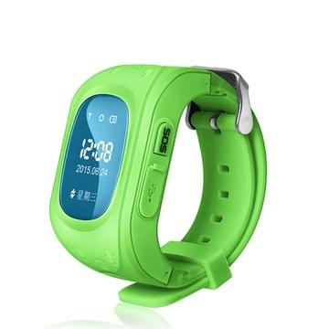 儿童定位手表小孩子插卡智能手机安全防水学生电话防丢失gps(绿色