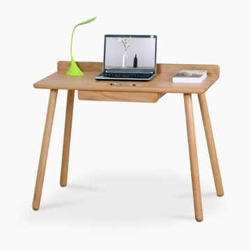 创意实木书桌简约现代橡木北欧家用写字桌日式电脑桌单人