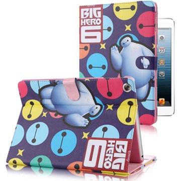 芘迪迦 ipad air1/2卡通彩绘皮套 ipad mini可爱大白平板电脑保护套
