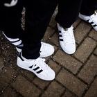 阿迪adidas三叶草男女鞋板鞋SUPERSTAR贝壳头休闲板鞋 C77124(白黑色 36)