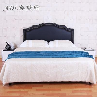 adl/奥黛丽 主卧床头床屏定制 双人床 皮艺床靠背软包 欧式铜钉铆钉床