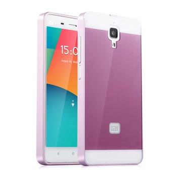 小米4手机壳小米4手机套米四金属边框式后盖m4保护新