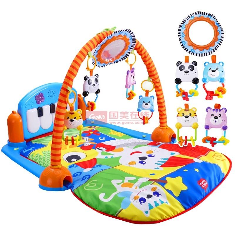 婴儿健身架器脚踏钢琴新生儿音乐充电版游戏毯宝宝0