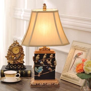 欧式彩绘快乐小鸟乐谱台灯装饰品摆件