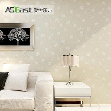 爱舍东方 欧式田园撒金纯色无纺墙纸 卧室客厅背景墙壁纸(as-301米