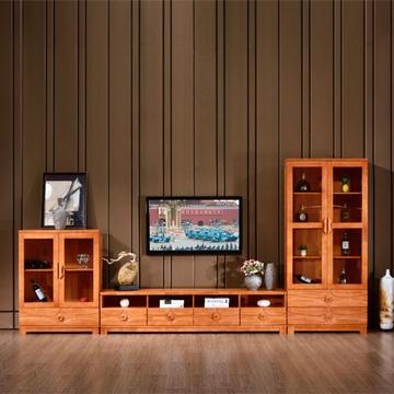 现代中式电视柜酒柜客厅实木电视机柜柜