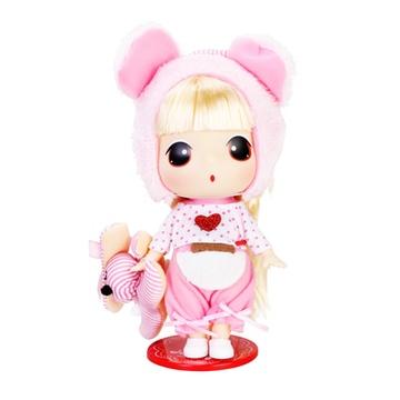 娃娃芭比娃娃女孩玩具迷你公主儿童仿真呆萌可爱洋娃娃(小熊冬己1806)