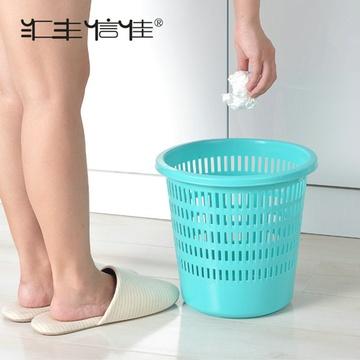 圆筒形 家用细网格 塑料纸箩卫生桶垃圾桶