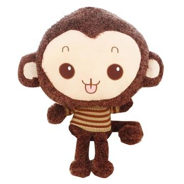 可爱开心大头猴公仔毛绒玩具大号创意布娃娃