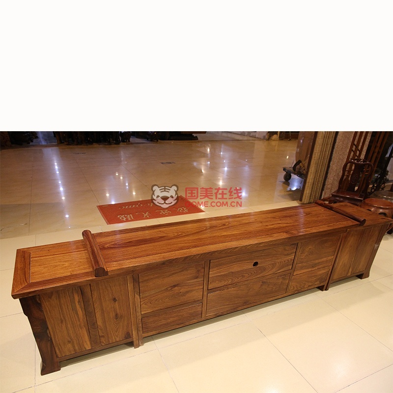 红木家具红木电视柜实木影视柜地柜厅柜刺猬紫檀木