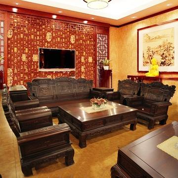 红木家具红木沙发10件套实木客厅组合瑞祥沙发南美木