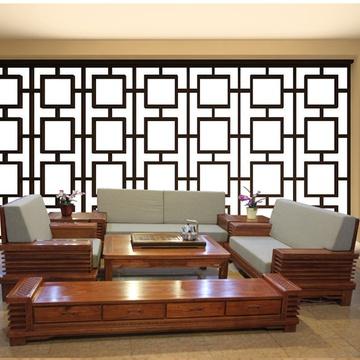 红木家具123红木沙发实木软体客厅组合简约现代6件套