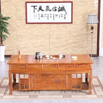 红木家具 花梨木办公茶桌