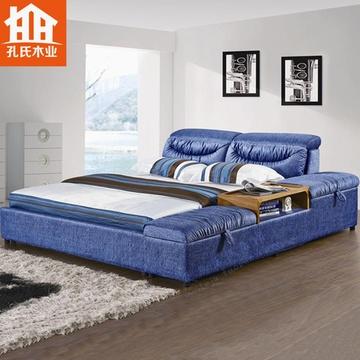 卧室欧式榻榻米床柜一体效果图