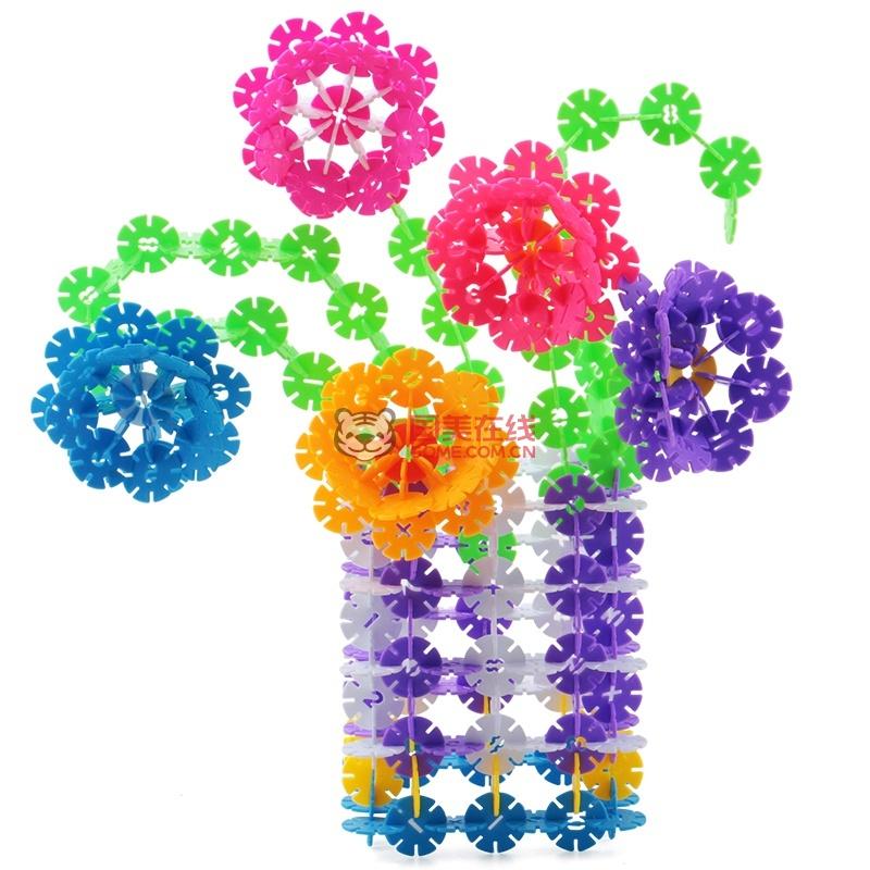 雪花片11色大号儿童拼插积木玩具3-6周岁立体拼图
