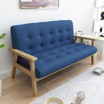 沙发实木框架布艺沙发组合