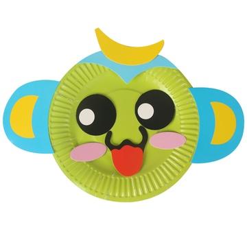 儿童纸盘子手工制作材料包幼儿园diy彩色贴画创意粘贴
