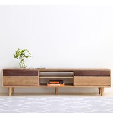 乐尚美 实木电视柜 简约时尚客厅组合储物柜 日式家具