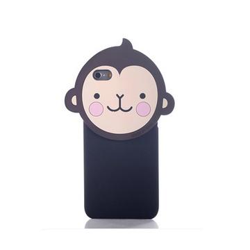 亿和源苹果条纹皇冠猴6sp手机壳6plus保护套可爱个性创意防摔潮(腮红