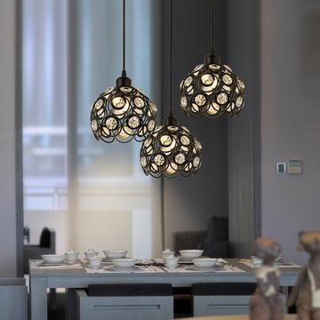 紫盛阁餐厅灯吊灯创意个性北欧客厅灯三头现代欧式卧室灯吧台灯简约