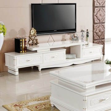欧式电视柜 木质客厅矮柜 卧室地柜 简约法式电视机柜