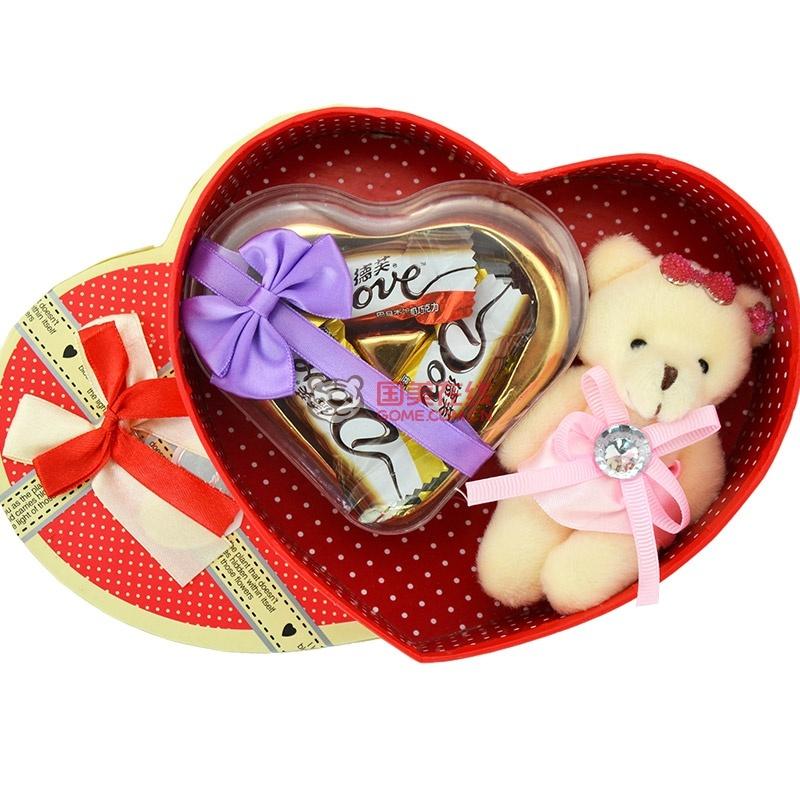德芙巧克力礼盒装德芙心语心形巧克力 送女友生日礼物