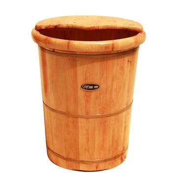 香柏木泡脚木桶 带盖保温易排水