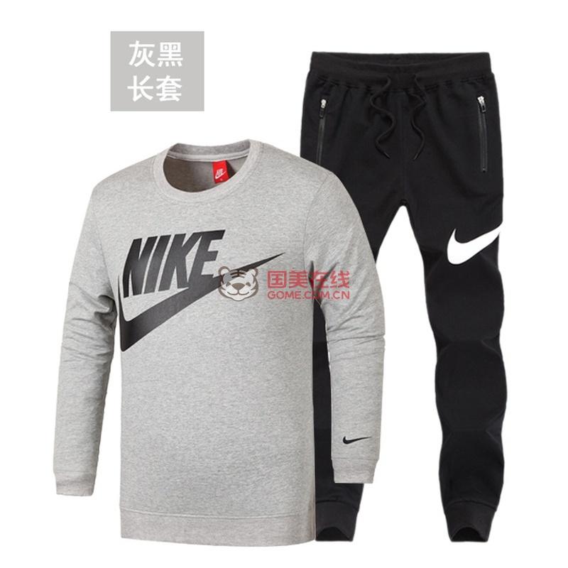 nike 运动服 耐克长袖套装 运动跑步服 秋款卫衣套装