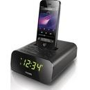 飞利浦AJ3275DZ iphone5/6S苹果音响 闹钟 时钟收音机 音乐底座(黑色 标配)