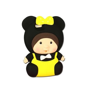 亿和源可爱娃娃硅胶手机壳 苹果 iphone5s66plus 防摔保护套(黄色娃娃