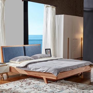 香河家具床实木床北欧简约双人床b18