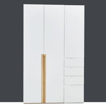 香河家具衣柜 實木衣柜衣櫥北歐宜家平開門衣柜推拉定制衣柜(三門平開