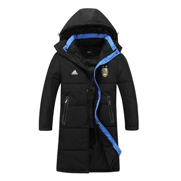 棉衣加中长款棉大衣外套男冬训加厚户外风衣品牌保暖棉服8586(黑色 4x