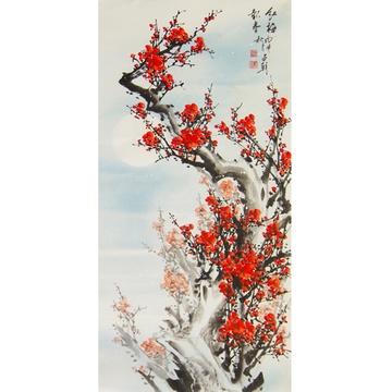 古画国画工笔画装饰画背景中式快餐中式窗花中式婚礼