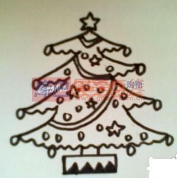 儿童简笔画圣诞树的画法