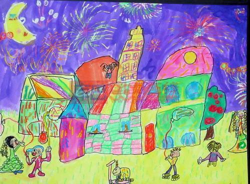 庆元旦 儿童简笔画图片大 新年去底素材 大图-新年儿童画图片 十二生