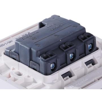 罗格朗(legrand)vrs33/1/2ay三位单极带荧光小按钮开关