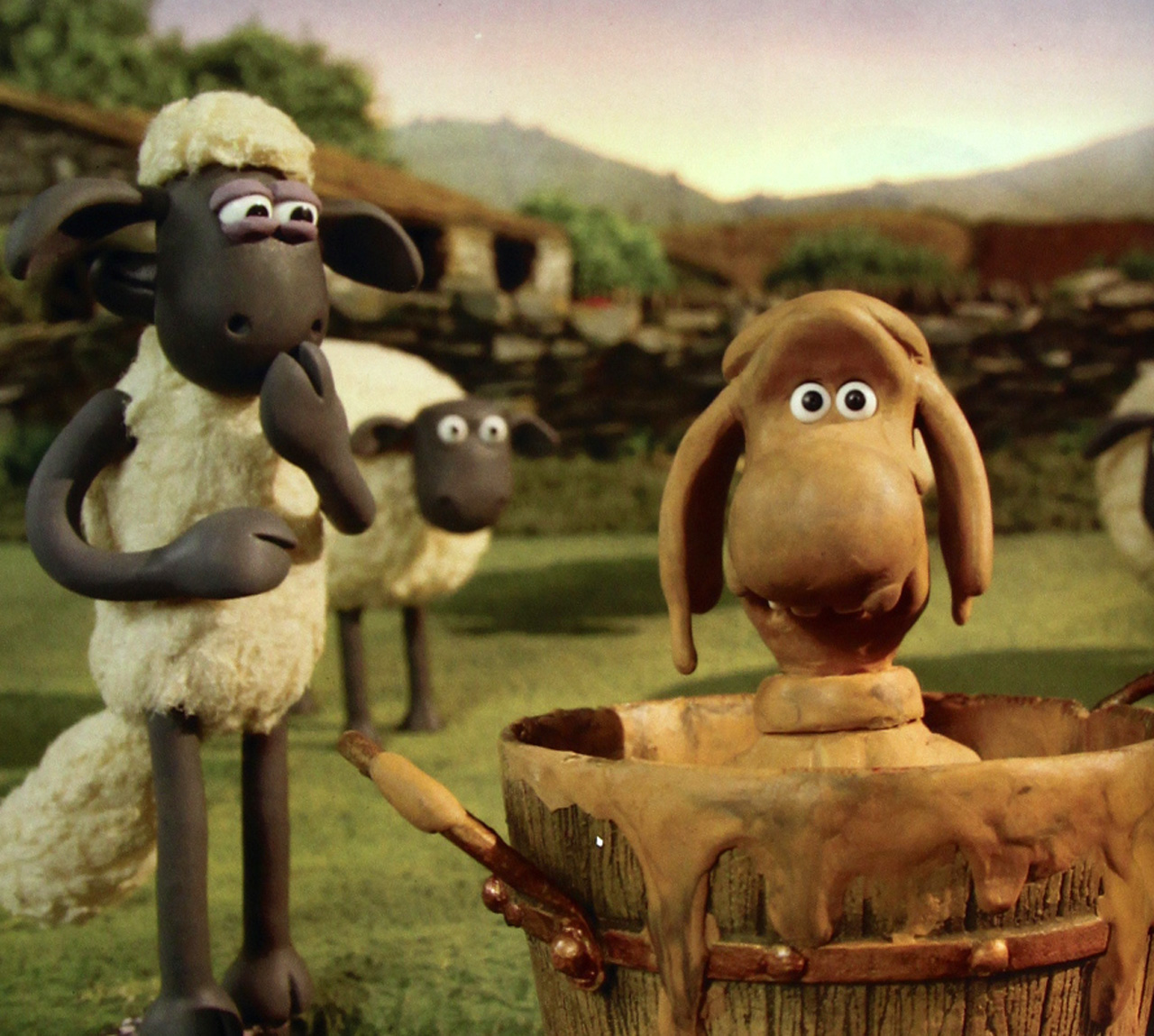 小羊肖恩  (1280x1149); 小羊肖恩图片大全下载; 小羊肖恩(会飞的提米