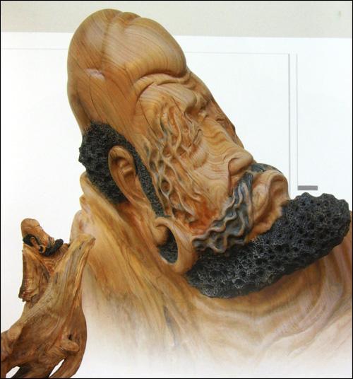 木雕静思罗汉图片
