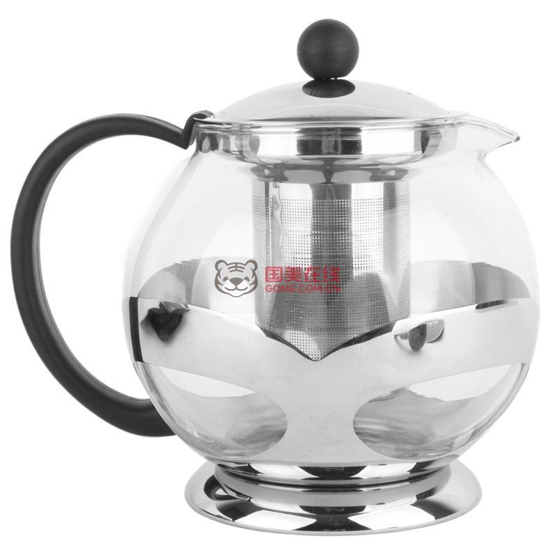 金美莱k19-1滤网式欧式玻璃泡茶壶(1200ml)图片展示