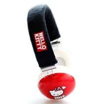 HelloKitty HKR-HP03耳机头戴式耳机(红色)(大红色设计,体现传统的中国风颜色,佩戴起来还尅作为特别的装饰,毛线头条,让佩戴更加舒适)