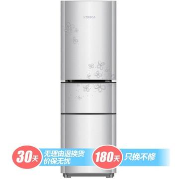 KONKA 康佳 BCD-192MT-GY 192升 三门冰箱 1098元(满减后998元)