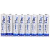 雷摄(LEISE) 5号AA2700mAhX8可充电式镍氢环保电池(八支) 适用于数码相机/学习机/MP3/剃须刀/电动玩具等.